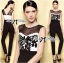 Lady Christine Sexy Monochrome Rose Embroidered Jumpsuit L153-79B05 thumbnail 1