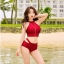 498 ชุดว่ายน้ำ ทูพีช สีแดงเลือดหมู thumbnail 1