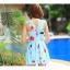 SM-V1-397 ชุดว่ายน้ำทรงชุดแซก สีฟ้าสวยลายน่ารัก เซ็ต 2 ชิ้น ชุดแซก+บิกินี่ thumbnail 5
