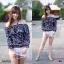 เสื้อปาดไหล่ #สาวอวบ แต่งระบาย แขนยาว ทรงน่ารัก thumbnail 3