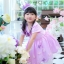 Butterfly Princess Dress ชุดเดรสเด็กสีม่วง thumbnail 3