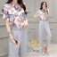 Daisy Green floral fabric blugrish set thumbnail 2