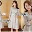Lady Aliza Classic Vintage Plain Lace Dress with Belt L273-7909 thumbnail 12