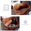 Fashion Bag กระเป๋าเป้ กระเป๋าสะพายข้างสีดำ กระเป๋าเซต 2 ใบ No.0111 - Brown (รหัสสินค้า 2AHI0RK) thumbnail 4
