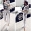 Lady Leslie Lace Embroidered Jersey and grey Culottes Set L266-79C03 thumbnail 9