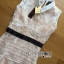 Lady Grace White Collar Sleeveless Floral Lace Nude Dress L215-95C05 thumbnail 7