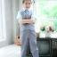 เซทเสื้อกั๊กสีเทา เสื้อเชิ้ตสีฟ้า กางเกงขายาวสีเทา thumbnail 4