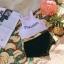 388 ชุดว่ายน้ำ เสื้อกล้ามเอวลอยสีขาวสกรีนอักษร กางเกงสีดำ thumbnail 10