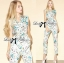 Lady Lilly Pastel Floral Printed Sleeveless Jumpsuit L151-75E09 thumbnail 1