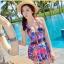 SM-V1-342 ชุดว่ายน้ำวันพีช เว้าหลังลึก colorful สีสันสดใส thumbnail 7