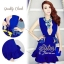 Korea Dress with Blue Premium Lace Design S159-95C11