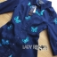 Lady Grace Sweet Feminine Butterfly Embroidered Denim Shirt Dress L215-85C07 thumbnail 9