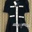 DR-LR-259 Lady Serene, Little Black Dress Gold Button thumbnail 11