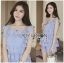 Lady Sophie Sweet Casual Baby Blue Lace Top and Shirts Set L251-89C02 thumbnail 15
