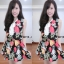 เดรสชีฟอง สไตล์สาวเกาหลีน่ารักๆ แต่งคอผูกเป็นโบว์เก๋ๆๆพร้อมเชือกทองผูกเอว thumbnail 2