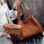 Fashion Bag กระเป๋าเป้ กระเป๋าสะพายข้างสีดำ กระเป๋าเซต 2 ใบ No.0111 - Brown (รหัสสินค้า 2AHI0RK) thumbnail 1
