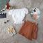 กางเกงกระโปรงลายผ้าไทยเอวยืดหลัง ใส่คู่กับเสื้อลูกไม้ปาดไหล่แขนตุ้กตา thumbnail 3