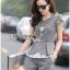 Lady Grace Smart Casual Check Printed Blouse and Shorts Set L200-79C06 thumbnail 9