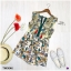 จั้มสูทขาสั้น แขนกุด ปักลายดอกไม้และนก thumbnail 6