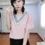 เสื้อชีฟองแขนระบายแต่งด้วยงานปักเลื่อมบนคอเสื้อฟรุ้งฟริ้ง thumbnail 5