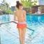 SM-V1-364 ชุดว่ายน้ำเซ็ต 3 ชิ้น สีส้มลายจุดขาว น่ารักๆ (บรา+บิกินี่+กระโปรง) thumbnail 6