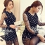 DR-LR-038 Lady Petra Timeless Chic Polka Dots Long-Sleeved Dress thumbnail 5