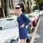 Slim thin long-sleeved dress denim skirt denim by Aris Code A243-79C05 thumbnail 6