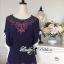 Lady Emily Country Flower Embroidered Kaftan Blouse L150-49A10 thumbnail 8