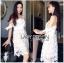 Lady Maria Sweet Sexy Stripy Ribbon Lace Dress L258-7903 thumbnail 1