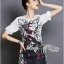 DR-LR-285 Lady Ashley Mysterious Wicked Girl Print Dress thumbnail 3