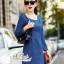 Slim thin long-sleeved dress denim skirt denim by Aris Code A243-79C05 thumbnail 2