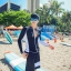 ชุดว่ายน้ำแขนยาว สีดำ+ขาว บราสีขาว เซ็ต 3 ชิ้น thumbnail 9