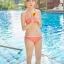 SM-V1-364 ชุดว่ายน้ำเซ็ต 3 ชิ้น สีส้มลายจุดขาว น่ารักๆ (บรา+บิกินี่+กระโปรง) thumbnail 16