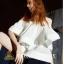 Detail: set เสื้อ + กางเกงขาวขายาว design thumbnail 5