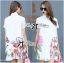 Lady Claire Flower Embroidered Organza and Cotton Shirt Dress L201-75C11 thumbnail 12