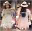 Lady Monique Sweet Feminine Flower Guipure Lace Dress thumbnail 2