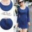 Slim thin long-sleeved dress denim skirt denim by Aris Code A243-79C05 thumbnail 5