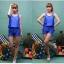 SM-V1-371 ชุดว่ายน้ำเซ็ต 4 ชิ้น สีน้ำเงินสวย บรา+บิกินี่ เสื้อคลุม+กางเกงขาสั้น thumbnail 4