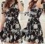 DR-LR-216 Lady Stella Femme Fatale Rose Print Dress thumbnail 8