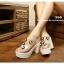 รองเท้าส้นสูงสไตล์เกาหลีลุคลำลองๆด้านหน้าประดับคริสตัลบนพลาสติกใสนิ่ม thumbnail 3