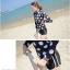 SM-V1-490 ชุดว่ายน้ำแขนยาว สีดำลายจุดขาวใหญ่ กางเกงขาสั้น (เสื้อ+กางเกง) thumbnail 9