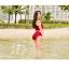 498 ชุดว่ายน้ำ ทูพีช สีแดงเลือดหมู thumbnail 7