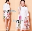 Lady Claire Flower Embroidered Organza and Cotton Shirt Dress L201-75C11 thumbnail 14