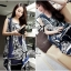 DR-LR-061 Lady Marilyn Desirable Bold Statement Printed Overdress thumbnail 5