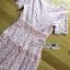Lady Carly Feminine Pinky Striped Lace Maxi Dress L268-7902 thumbnail 16