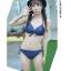SM-V1-332 ชุดว่ายน้ำเซ็ต 4 ชิ้น สีกรมท่าแต่งลายสวย (บรา+บิกินี่+กระโปรง+เสื้อคลุมซีทรู) thumbnail 4