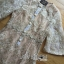 Kate Royal Sweet Gold Floral Embroidered Button-Down Tulle Dress L272-85031 thumbnail 13