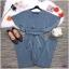 จั้มสูท ขายาว ทรงปีกค้างคาว งานผ้าฮานาโกะหนา ดีเทลมีสายเชือกกุ้นขอบผูกเอว thumbnail 7