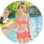SM-V1-364 ชุดว่ายน้ำเซ็ต 3 ชิ้น สีส้มลายจุดขาว น่ารักๆ (บรา+บิกินี่+กระโปรง) thumbnail 5