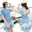 DR-LR-039 Emma Denim Layer Trim Mini dress thumbnail 1